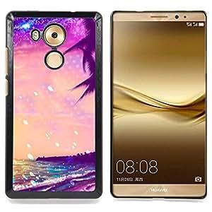 For HUAWEI Ascend MATE 8 Case , Summer Sea Stars vibrante Sol - Diseño Patrón Teléfono Caso Cubierta Case Bumper Duro Protección Case Cover Funda