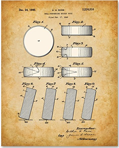 Hockey Puck Art Print - 11x14 Unframed Patent Print - Great Gift for Athletes