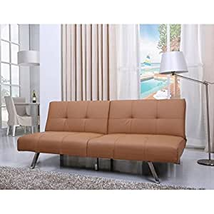 Gold Sparrow Jacksonville Camel Foldable Futon Sofa Bed
