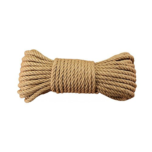 Natural Jute Twine Durable Industrial Packing Materials Heavy Duty Natural Brown Twine Jute Rope/String 328ft/100m for Arts, Crafts & Gardening Applications by EvZ