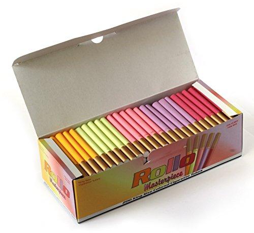 ROLLO MASTERPIECE - King Size multi colored cigarette tubes - 200 tubes per box
