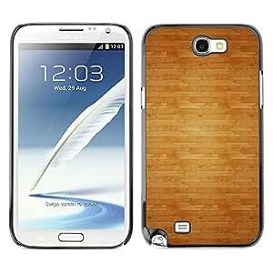 Be Good Phone Accessory // Dura Cáscara cubierta Protectora Caso Carcasa Funda de Protección para Samsung Note 2 N7100 // Pattern Floor Texture Brown