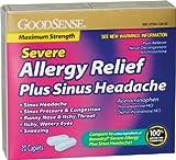 Good Sense Allergy Relief Plus Sinus Headache Seve Case Pack 24