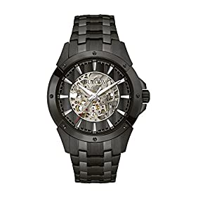 Bulova Men's 98A147 Analog Display Automatic Self Wind Black Watch