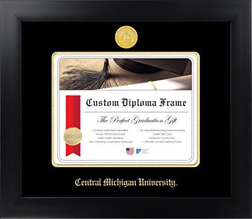 Celebration Frames Central Michigan University 8½ x 11 Matte Black Finish Infinity Diploma Frame by - Michigan State University Seal