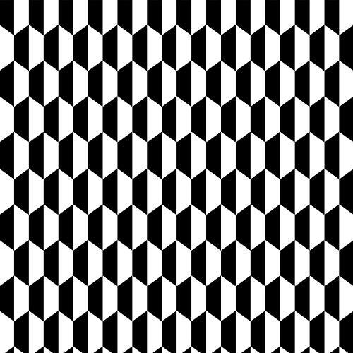 Luxton Scandinavian Black White Wallpaper (Unpasted), PVC Background Wallpaper for Kitchen Bathroom Livingroom Bedroom Shops, Abstract Hexagon Wallpaper Roll, 20.8 inch x 32.8 Feet, 1 Roll Pack