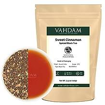 VAHDAM Cinnamon Spice, Masala Chai Tea (50 Cups) - Sweet & Spicy Cinnamon Tea, Bend of Assam Black Tea with Fresh Cinnamon & Cardamom - India's Original Masala Tea Recipe, Blended & Packed in India