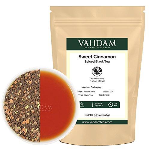 [Cinnamon Spice, Masala Chai Tea (50 Cups) - Sweet & Spicy Cinnamon Tea, Bend of Assam Black Tea with Fresh Cinnamon & Cardamom - India's Original Masala Tea Recipe, Blended & Packed in India] (Blended Cinnamon Tea)