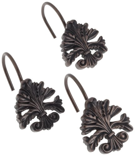 Carnation Home Fashions PHP-FL/67 Fleur dis Lis S/C Hooks in Oil Rubbed Bronze, Set of 12, ()