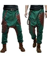 Ba23 Baggy Pantalon Sarouel Homme Créateur 34/36/38/40/42/44/46/48/50/52/54/56/58 (Q6)