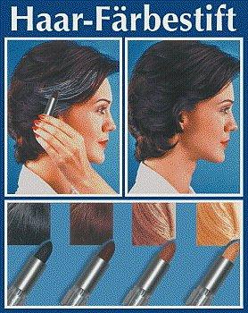 WENKO 3512011500 Haarfärbestift Braun - einfache Anwendung, Grauabdeckung, Chemie, 2 x 7.4 x 2 cm, Silber