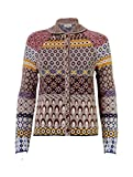 IVKO Merino Wool Sweater w Round Collar and Front Button Closure, Beige