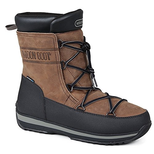 Tecnica Uomo Moon Boot Lem Pelle Marrone