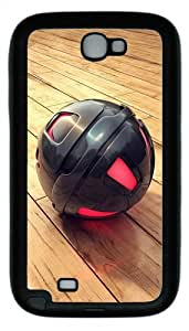 3D Black And Red Sphere TPU Rubber Samsung Galaxy Note 2/ Note II/ N7100 Case Cover - Black