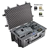 Pelican 1650 Watertight Crushproof Case W / Pick 'N Pluck Foam Black
