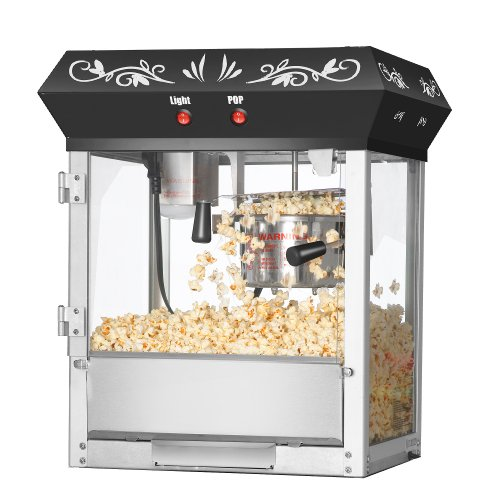 Great Northern Popcorn Black 6 oz. Ounce Foundation Old-Fashioned Movie Theater Style Popcorn Popper by Great Northern Popcorn Company