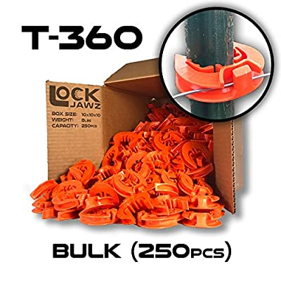 T-360 Electric Fence T-Post Insulator - Orange (Bulk Qty: 250)