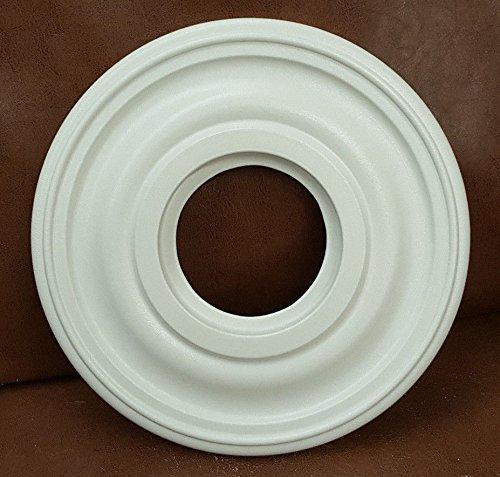 "Henta Mini-Plano Ceiling Medallion Paintable ABS Plastic (White, 12"" (Matte White Ceiling Medallion)"