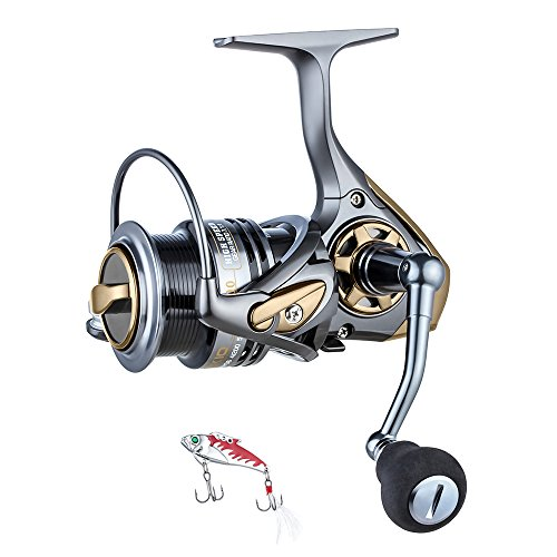 Spinning Reel,High Speed 7.1:1 Fishing Reel Inshore Bass Fishing for Freshwater, Unique Designed Shallow Spool for Quick retrive