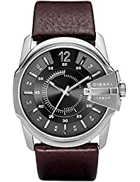 Men's DZ1206 Master Chief Stainless Steel Brown Leather Watch