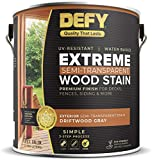 DEFY Extreme 1 Gallon Semi-Transparent Exterior Wood Stain, Driftwood Gray
