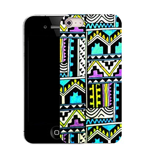 Mobile Case Mate IPhone 4s clip on Silicone Coque couverture case cover Pare-chocs + STYLET - antiquated pattern (SILICON)