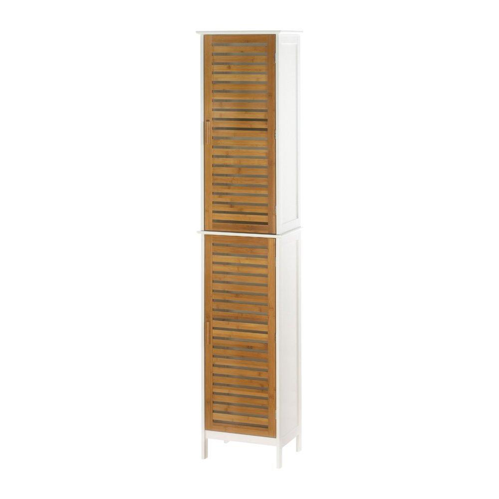 Koehler Home Decor Indoor Accent Kyoto Double Linen Wooden Storage Cabinet