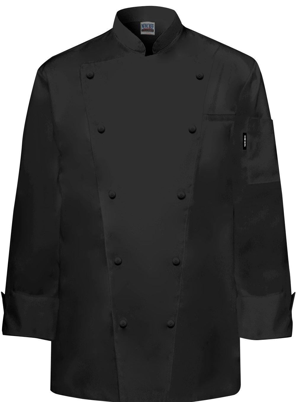 Newchef Fashion Marquis Chef Coat Men's Black Chef Jacket 2XL Black