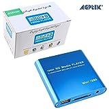 AGPtek® Mini 1080P Full HD Digital Media Player-MKV/RM-SD/USB HDD-HDMI-Blue