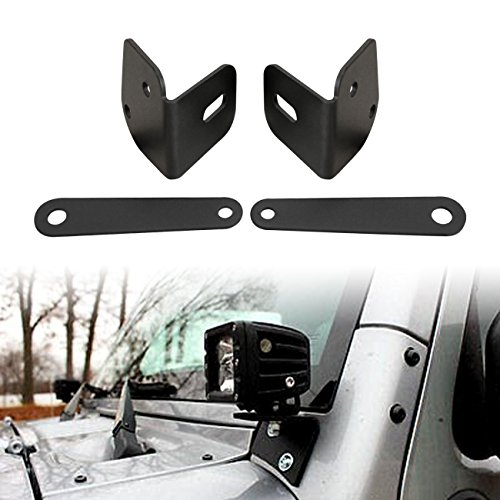 DIYTUNINGS Lower Corner Double Pillar Mount Brackets for Jeep Wrangler JK JKU Unlimited Rubicon Sahara X Sport Exterior Accessories Parts 2007 2008 2009 2010 2011 2012 2013 2014 2015 2016 - Girls Spring 2014 Break
