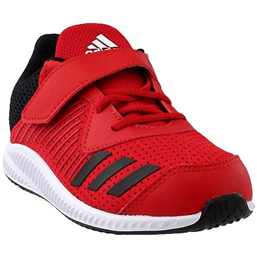 on sale 4fe75 76e8d Galleon - Adidas Originals Boys  Fortarun EL Running Shoe,  Scarlet Black White, 7 Medium US Toddler
