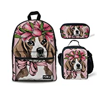 HUGS IDEA 3D Animals Face Boys Backpack Kids School Book Bag Travel Bagpack