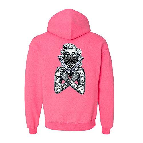 Marilyn Monroe Black Bandana Cross Unisex Hoodie Fancy Fashion Sweater Red Small