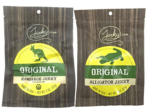 SPECIALTY Exotic Jerky Sampler Pack - 2 Types of Seasonal Wild Game Jerky (Kangaroo Jerky and Alligator Jerky) - No Added Preservatives, No Added Nitrates and No Added MSG - 4 total oz.