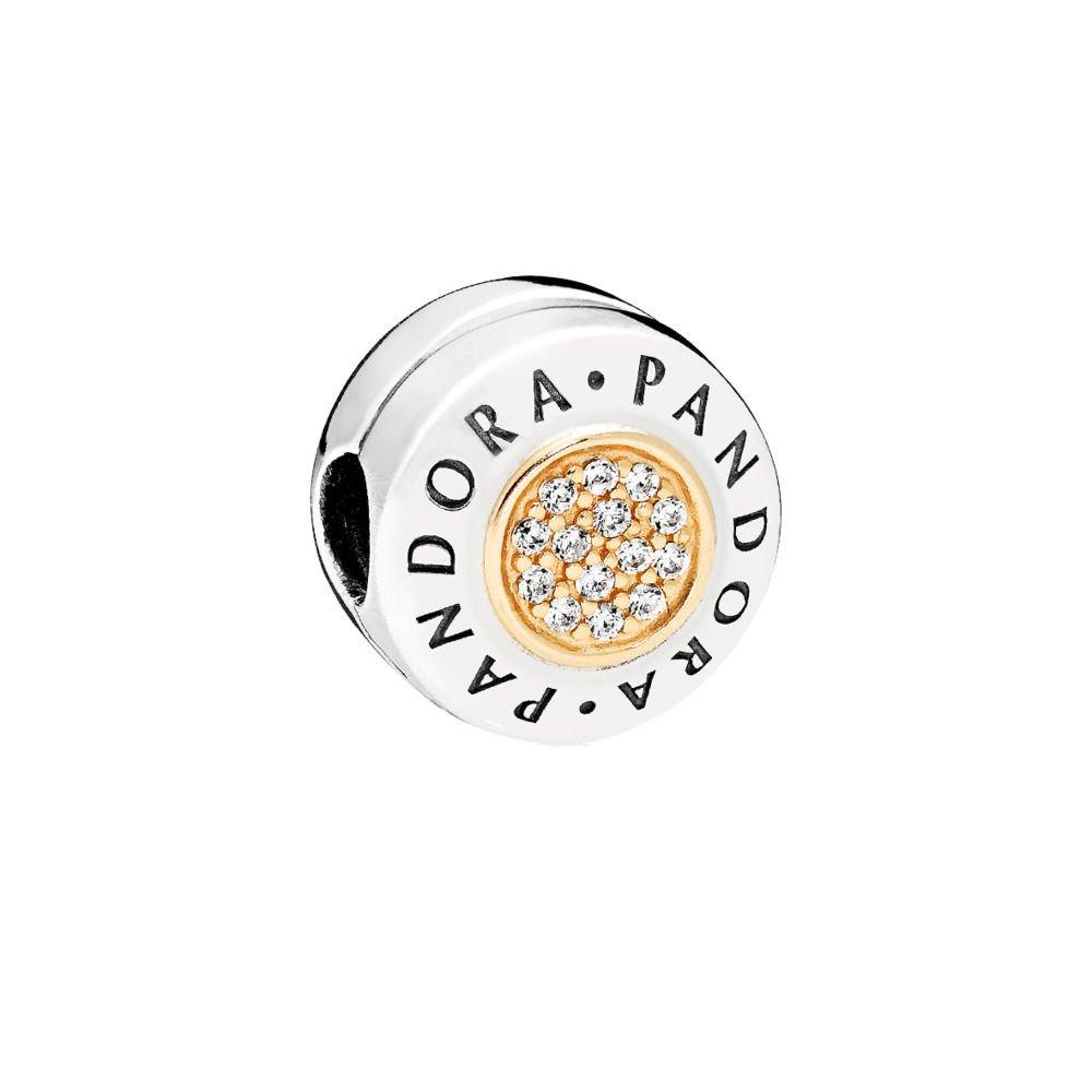 Pandora Signature Logo Clip Charm 796229CZ