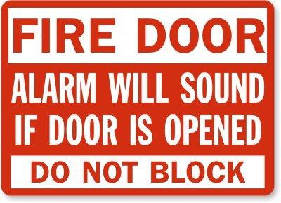 Amazon.com: Puerta de incendios alarma sonará si puerta se ...