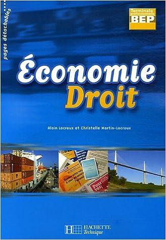 Livre Economie Droit BEP Tle Professionnelle pdf, epub ebook