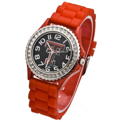 (TEXAS TECH WATCH RED-TEXAS TECH RED RAIDERS RED LADIES JELLY WATCH)