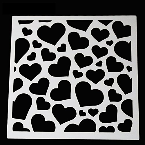 DIY Painting Stencil for Scrapbooking Cardmaking Cake,Brick (Heart) by SLGIFT (Image #1)