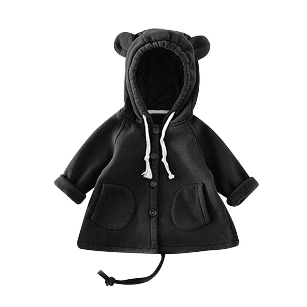 Gotd Infant Toddler Baby Girl Boy Clothes Thick Warm Ear Hooded Long Coat Outwear Winter Long Sleeve Outfits Christmas Spring (18-24 Months, Green) Goodtrade8