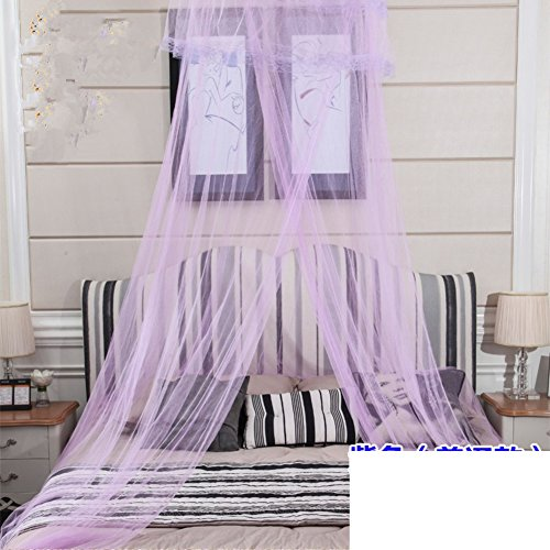 Mosquito netting–keeps away insect flies–perfect for indoors and outdoors,Playgrounds,Fits most size beds,Cribs-Violet 120x200cm(47x79inch) -