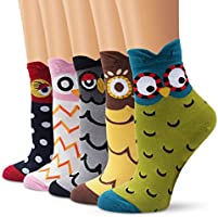 Ambielly Cute Animal Design Women's Casual Comfortable Cotton Crew Socks