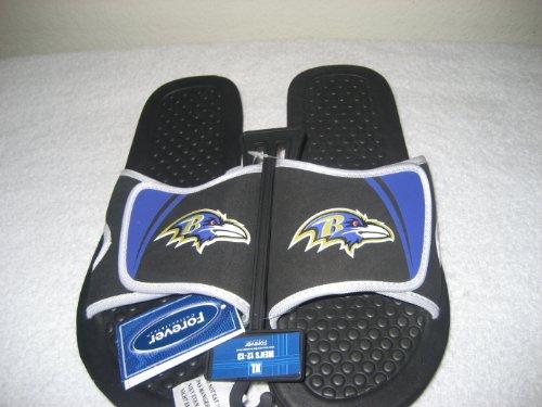 Baltimore Ravens 2013 Nfl Shower Slide Flip Flop Sandals Size Medium 8-9 by NFL
