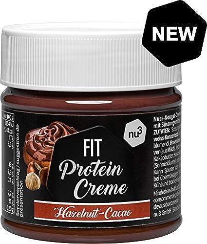 nu3 Fit Protein Creme - 200g Crema de chocolate y avellanas - Sin aceite de palma
