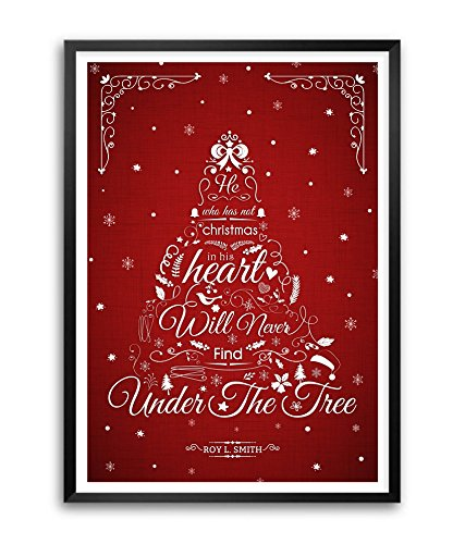 LAB NO 4 Roy Smith Quotes Merry Christmas Wishing Gift Framed Poster Size A3 (16.5