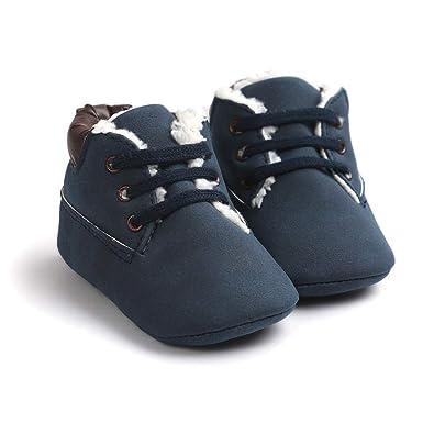 e4323af2c60 Morbuy Bebe Zapatos de Primeros Pasos Invierno Niño y Niña 0-18 Meses  Blanda Antideslizante Zapatos Recién Nacido Cuna Suela  Amazon.es  Ropa y  accesorios