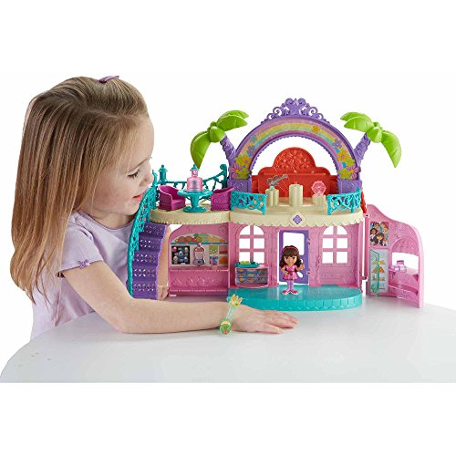 Fisher-Price Dora The Explorer Dora and Friends Cafe Playset Lights and Sounds toys for girl - 36706795