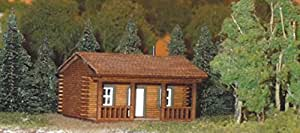 Train Time Laser N Scale Laser Cut Log Cabin Kit