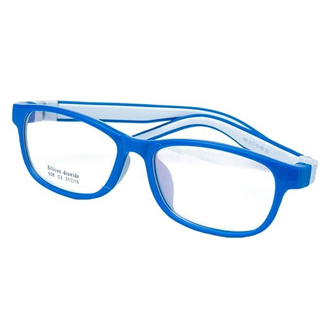 c8f272b069abd Juleya Kinder Gläser Rahmen - Silikon - Kinder Brillen Clear Lens Retro  Reading Eyewear für Mädchen