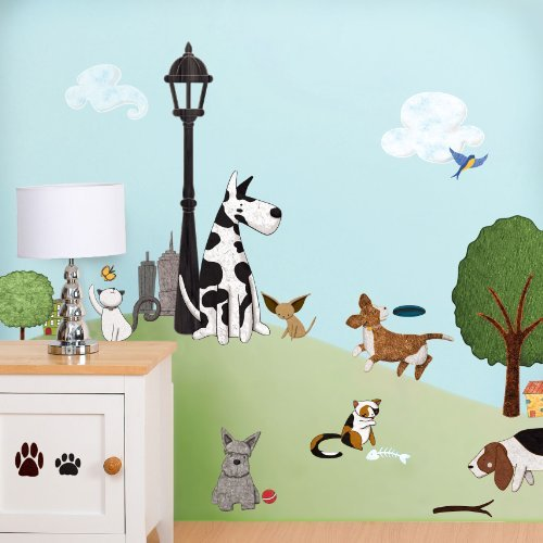 My Wonderful Walls Cat and Dog Decals Stickers for Doggie Spas/Animal Groomers/Kids Room Wall Mural, Multicolored by MyWonderfulWalls